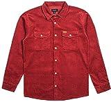 Brixton  Men's Nevada Long Sleeve Shirt Jacket Rust Medium