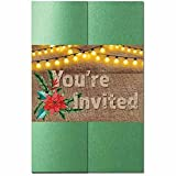 Rustic Holiday Invitation Kit - 80 Pack