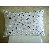 Zippered Standard Pillowcase, Handmade White Standard Pillow Shams, Mirror Polka Dots Standard Pillow Shams, 20''x26'' Cotton Canvas Standard Pillow Shams, Contemporary Standard Pillow Shams- Mirrors