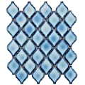 "SomerTile FDXARAL Casablanca Aella Porcelain Floor and Wall Tile, 9.875"" x 11.125"", Blue"