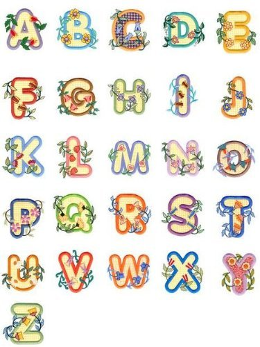 Alphabet Machine Embroidery Designs (OESD C&C Treasure Chest of Embroidery Machine 104 Designs Volume 6 CD ALPHABETS)
