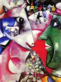 Amazon.com: La Mariee Art Poster Print by Marc Chagall, 24x32 ...