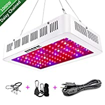 HIGROW 1000W 600W Double Chips LED Grow Light Full Spectrum Grow Lamp with Rope Hanger for Indoor Greenhouse Hydroponic Plants Veg and Flower