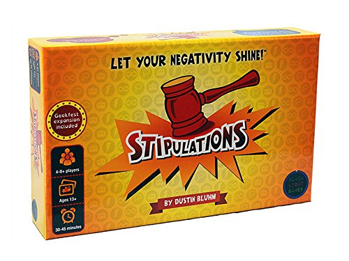Stipulations Party Game, Let Your Negativity Shine by Stipulations