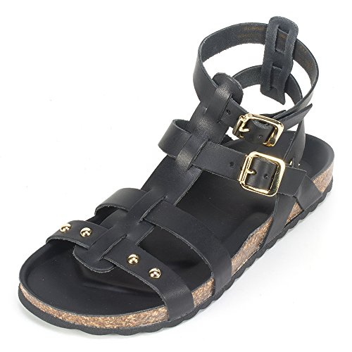 UPC 888375228263, White Mountain 'MANDOLIN' Women's Leather Sandal, Black - 5 M
