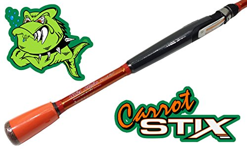Carrot Stix SPINNING 7' Medium Action Fishing Rod Wild Orange Alpha - CWA701M-M-S