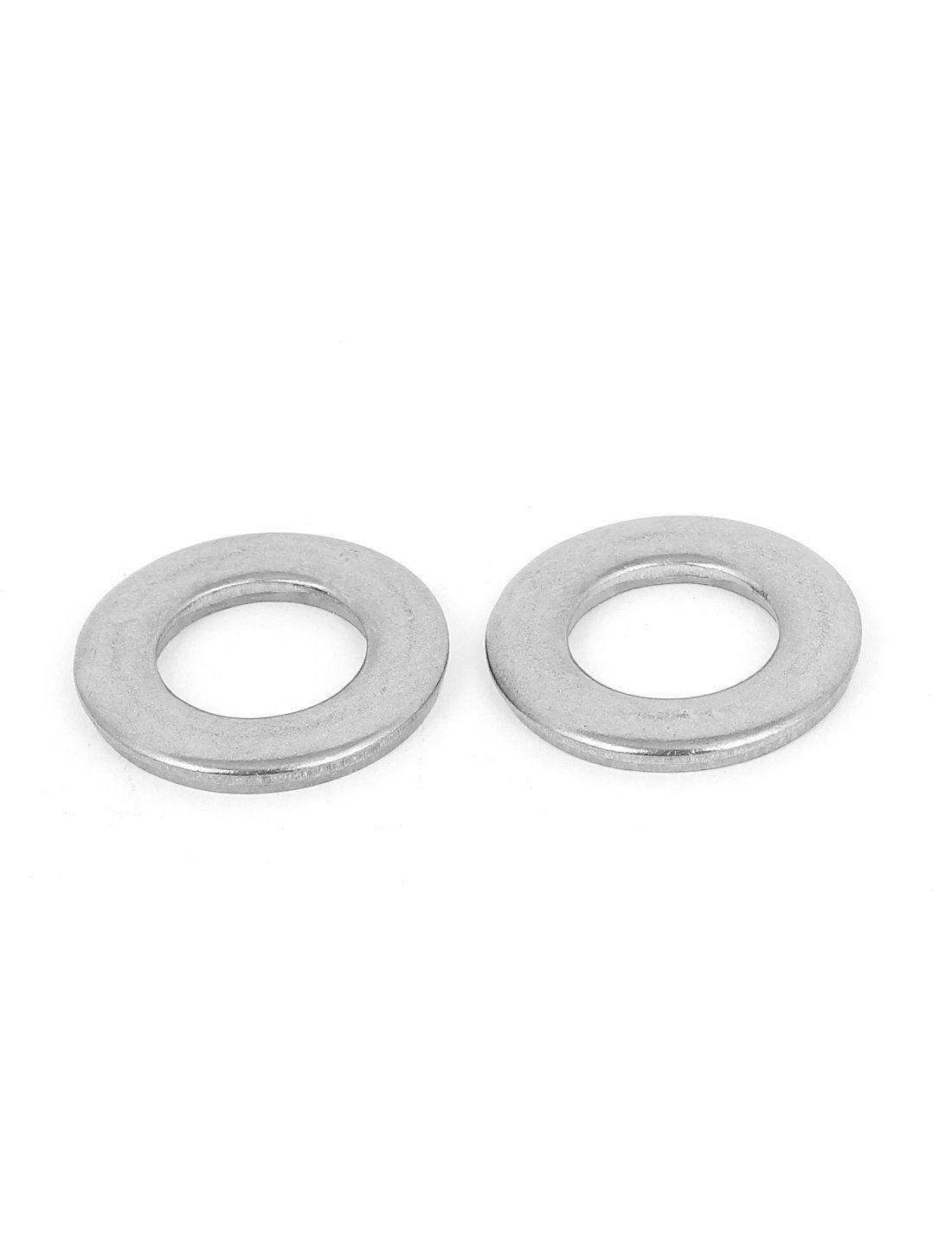Tono de la plata del acero inoxidable 304 Arandela plana 20pcs de 1//2 pulgadas para los tornillos