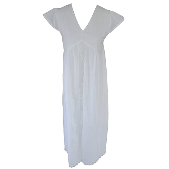 feacf0f05c Powell Craft Valerie Nightdress.100% Cotton.white  Amazon.co.uk ...