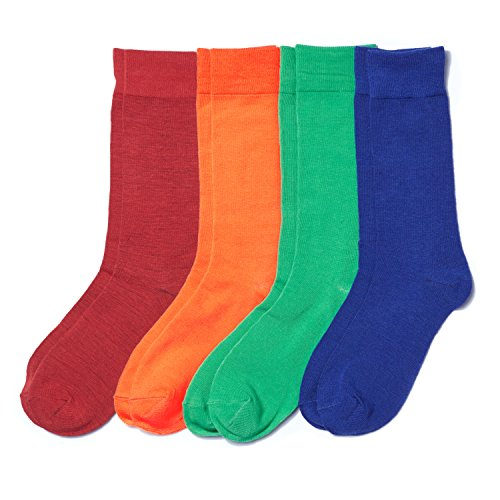 basic-outfitters-mens-fashion-solid-color-socks-red-orange-green-blue