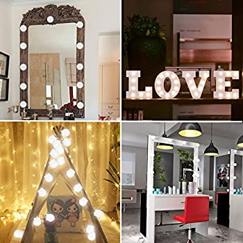 CleanDell Hollywood Style LED Vanity Mirror Lights Kit with Dimmable Light Bulbs/Lighting Fixture Strip for Makeup Vanity Table Set in Dressing Room (Mirror Not Include)