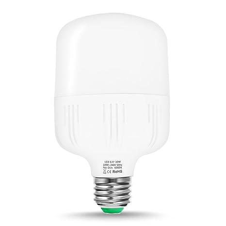 TechGomade Edison Tornillo E27 Bombilla LED, 30 W, 260 W equivalente a bombilla incandescente