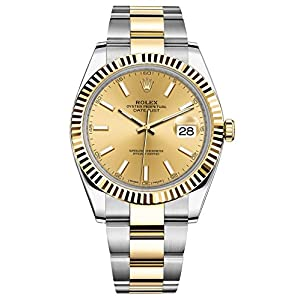Rolex Datejust 41 Stainless Steel & 18K Yellow Gold Oyster Watch Champagne Dial 126333