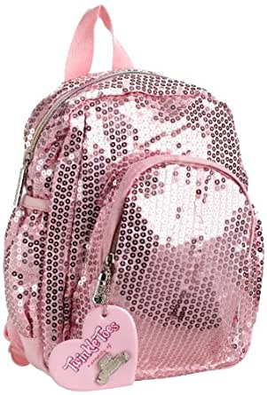 Skechers Twinke Toes Little Girls' Sequins Forever Basic Backpack, Cotton Candy, One Size