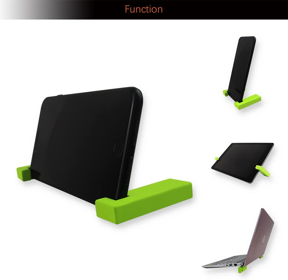 Universal Phone Tablet Ipad Stand Black Adjustable Cell Phone Stand for Desk.Holder for iPhone X 8 7 6 6s Plus,All Android Smartphone Portable Cell Phone Stand Magnetic Separation