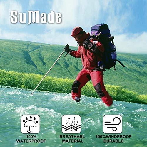 SuMade 100/% Waterproof Socks Merino Wool Men Women Breathable Hiking Running Cycling Socks