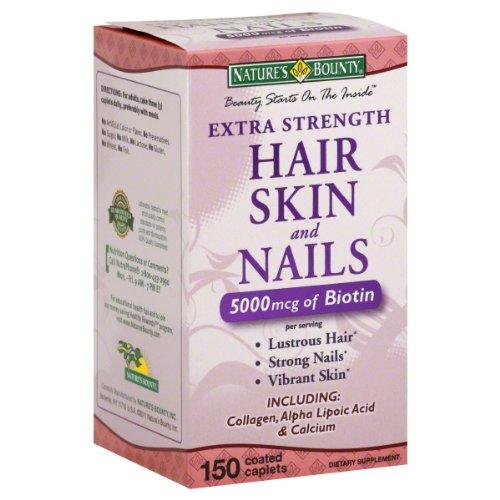 Nature Bounty supplémentaires Nails Force Peau Cheveux, 150 Count