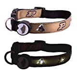 Dog-E-Glow Purdue University Boilermakers Lighted LED Dog Collar, Large, 15-Inch by 21-Inch