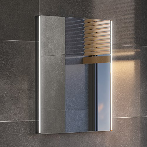 450 x 600 mm Modern Illuminated LED Bathroom Mirror Light Sensor + Demister ML3002 iBathUK