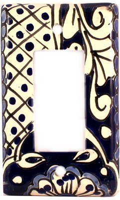 Talavera Switch Ceramic (Single Decora Traditional Talavera Ceramic Switch Plate)