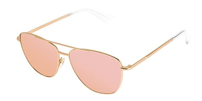 Hawkers Karat Rose Gold Lax, Occhiali da Sole Unisex, Oro (Dorado/Rosa), 65