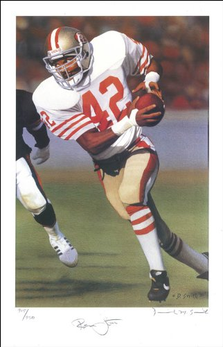 Ronnie Lott - Poster Signed co-signed by Daniel M. Smith
