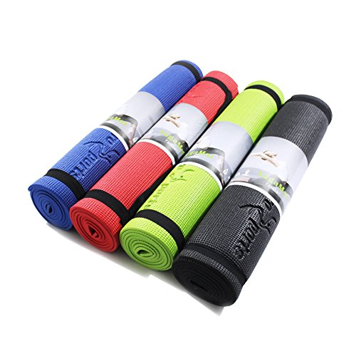 EuroSports 72-Inch Extra Long 1/4-Inch Extra Thick Eco Friendly Non-Toxic CHB Certified Non-Slip Yoga Mat with Carrying Strap for Home & Outdoor Fitness