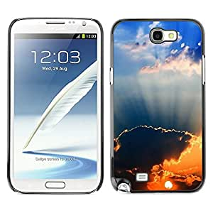 "For Samsung Note 2 N7100 , S-type Sunset Beautiful Nature 94"" - Arte & diseño plástico duro Fundas Cover Cubre Hard Case Cover"