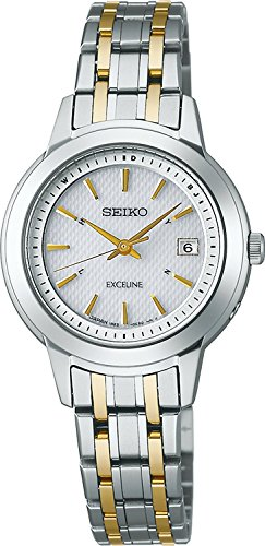 SEIKO watch EXCELINE Exceline titanium pair watch solar radio Modify sapphire glass super clear coating for everyday life waterproof SWCW065 Ladies
