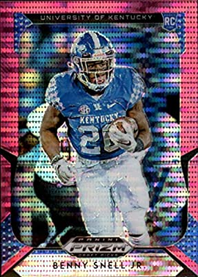 2019 Prizm Draft Picks Football Pink Pulsar Prizm #121 Benny Snell Jr. Kentucky Wildcats Panini NFL Collegiate RC Rookie Card