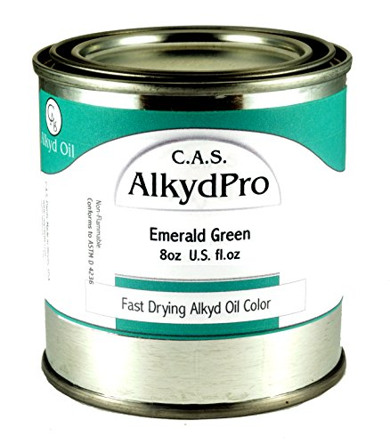 C.A.S. Paints AlkydPro Fast-Drying Oil Color Paint Can, 8-Ounce, Emerald Green ()