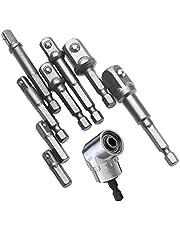 Angle Droit de 105 degrés Perceuse à Percussion électrique Adaptateur de Douille, Combinaison Drill and Tap Bit Set, Adaptateur pour clé à cliquet