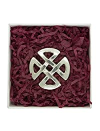 """Fine Pewter """"Celtic Love Knot"""" Brooch, Handcast by William Sturt"""