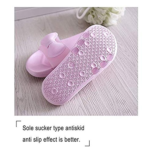 Smile Men Slippers BESIDESTAR Indoor Women House Bath Slipper Open Slip Anti Sandals Butterfly Pink Unisex Leisure and Toe for 6FwwfABIq