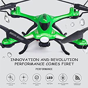 Kingtoys Waterproof Wifi FPV Quadcopter Drone with 0.3MP HD Camera JJRC H31 Headless Mode 360° Rolling Action 3D CF One Key Return RC Quadcopter RTF with LED Light for Night Flight by Haibei