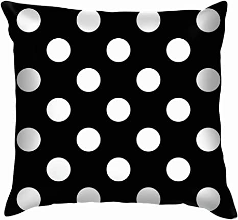 Amazon Com Big Polka Dot Pillow Case Throw Pillow Cover Square Cushion Cover 16x16 Inch Home Kitchen