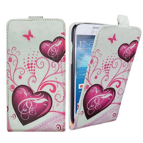 Xtra-Funky Exclusivo Cuero estilo del tirón cubierta de la caja de la carpeta con hermosos diseños con estilo púrpura lirio Flor florales para Samsung Galaxy Note 4 - Diseño B14 B5