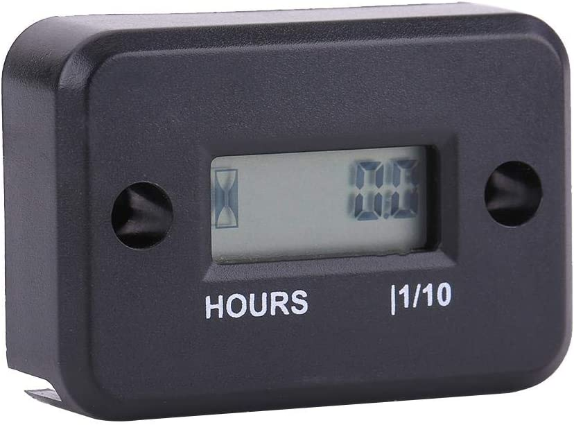 Black Digital Hour Meter Gauge Timer for Gasoline Engine Racing Motorcycle ATV Mower KIMISS Car Engine Timer