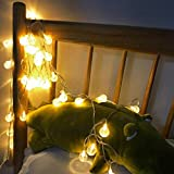 Globe String Lights, HighlifeS 3.5M 20 LED Bulbs Indoor/Outdoor String Lights Linkable Waterproof Patio Party Wedding Backyard Bedroom Decor (Yellow)