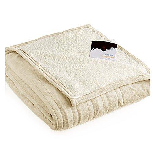 Biddeford MicroPlush Sherpa Electric Blanket - Simple and Energy-Saving