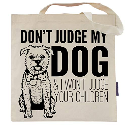 Don't Judge My Dog Tote Bag by Pet Studio Art