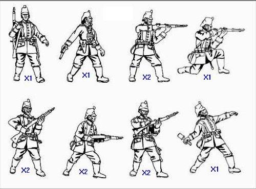 soldati tedeschi Jaeger della Prima Guerra Mondiale HaT Industrie 1:72 Kit di soldatini di plastica