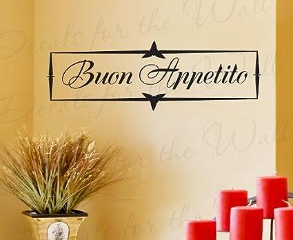 Amazon.com: Buon Appetito - Italian Kitchen Dining Room - Wall Decal ...