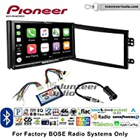 Volunteer Audio Pioneer AVH-W4400NEX Double Din Radio Install Kit with Wireless Apple CarPlay, Android Auto, Bluetooth Fits 2003-2005 Nissan 350Z (With Bose)