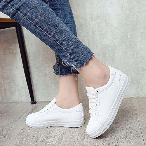 Taille Blanc Étudiants Chaussures All Oudan Confortables 39 Des Pour Plates Femmes Avec match Blanches Blanc coloré aOwvgZq