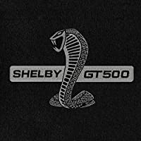 Fits 2013-2014 Ford Mustang Black Heavy Plush Floor Mats Front and Rear Shelby GT500 Logo