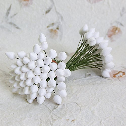 100 pcs Flower Bulbs Drop Shaped on Green Wire 10 mm (Styrofoam Rose Cones compare prices)