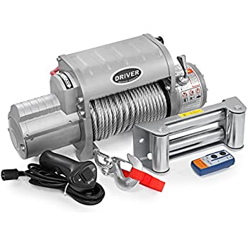 LD12-ELITE Electric Heavy Duty Recovery Winch - 12,000 lbs. Capacity - Wireless Remote Control - by Driver Recovery Products