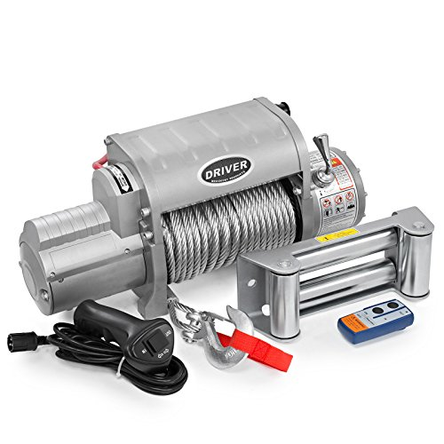 LD12-ELITE Electric Heavy Duty Recovery Winch – 12,000 lbs. Capacity – Wireless Remote Control – by Driver Recovery Products