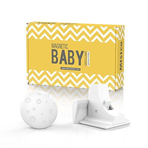 Misica Baby Safety Magnetic Locks(16locks+4keys)-No Tools or Screws Needed