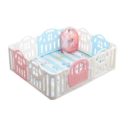 YXNN Parque De Plástico para Bebés con Panel De Actividades ...